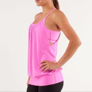 Lululemon Pink No Limits Tank Top Size 8
